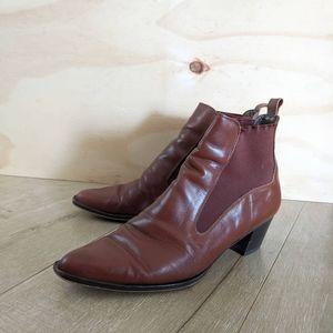 Vintage Bandolino Leather Booties - 8 1/2